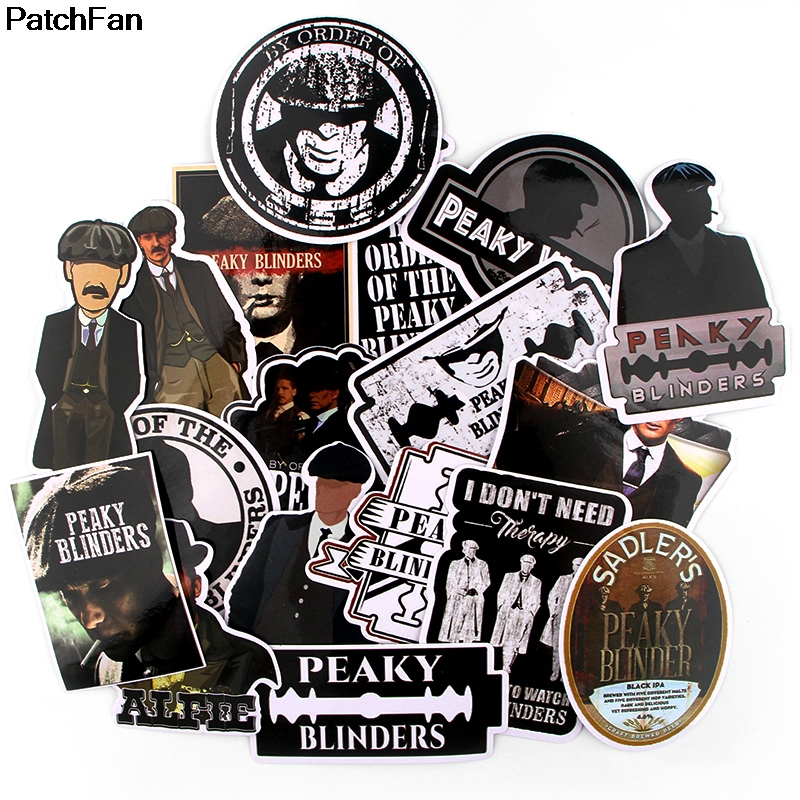Patchfan 18pcs Peaky Blinders Movie Punk Sticker For DIY Phone Luggage Laptop Motorcycle Phone Waterproof Sticker A2630