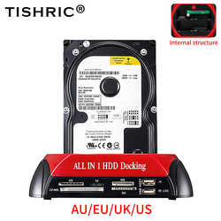 TISHRIC All In 1 Hdd Docking Station Usb 2.0 To SATA IDE External Hard Drive For 2.5 3.5 Inch Case Hdd Hard Disk Docking Station