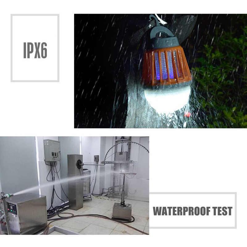 5W 2-In-1 Camping Lantaarn Tent Licht Draagbare IPX6 Waterdichte Muggen Killer Led Lantaarn Met Haak