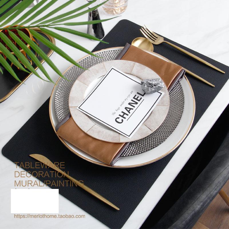 Grand ensemble d'assiettes de service | Assiette à dîner ronde à motif assorti