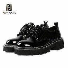 Prova Perfetto Women Platform Sneakers Ladies Shoes Ankle Strap Flat Platform
