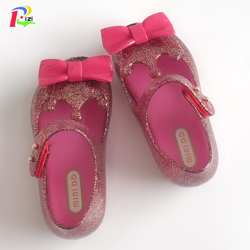 Girl Mini Melissa Summer Sandals Rose Beauty and Beast Jelly Baby Princess Shoes