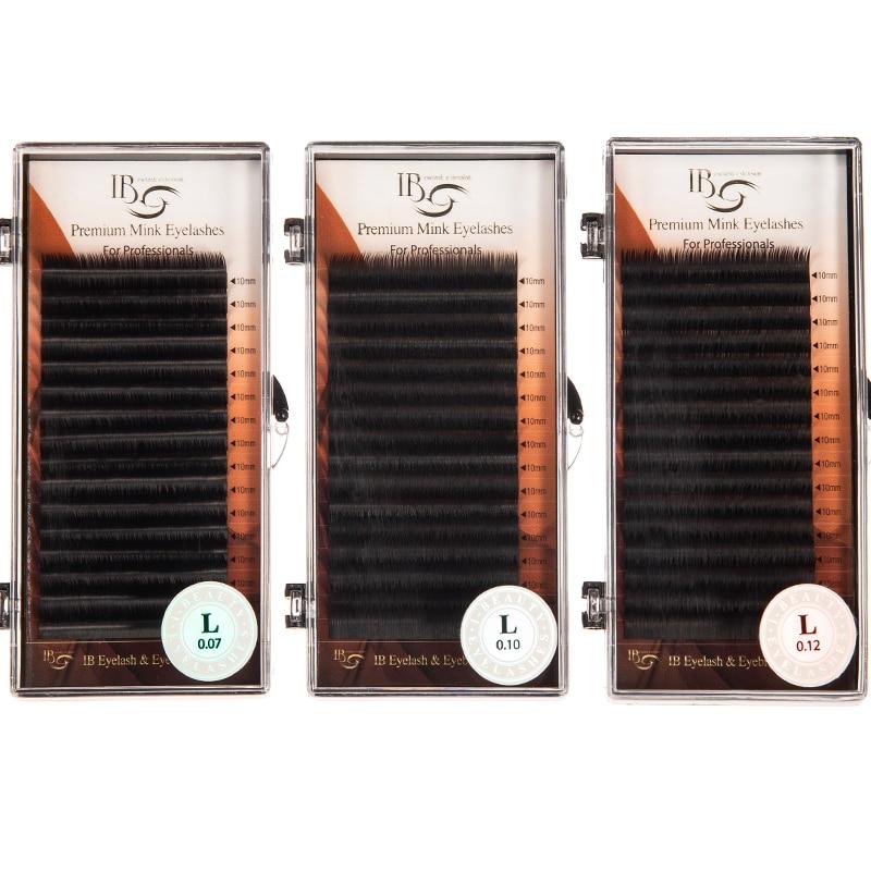 16 linhas i beleza coreia cílios extensão ib vison cílios l curl cílios maquiagem maquiagem cílios único comprimento 9-14mm lash