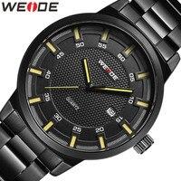 Weide aço inoxidável relógios masculinos marca de luxo relógio automatico masculino relógios à prova de choque à prova dshockproof água esporte quartzo relógio casual