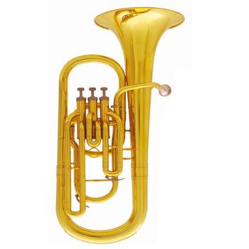 Bb baryton Horn 3 tłoki baryton instrumenty muzyczne z ustnikiem i etui tanie i dobre opinie SUERTE CN (pochodzenie) Złoty lakier BR-107L Z żółtego mosiądzu 13 4mm 230mm yellow brass Cupronickel Lacquer Nickel plated Silver plated