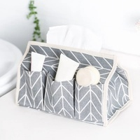Multifunction Cotton Linen Tissue Case Box Container Home Car Towel Napkin Papers Bag Holder Box Case Pouch Table Decoration