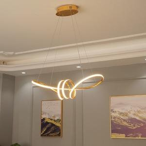 Image 5 - ゴールドクロームメッキ現代ledシャンデリアダイニングルームキッチンルームリビングルームのホームデコシャンデリア器具