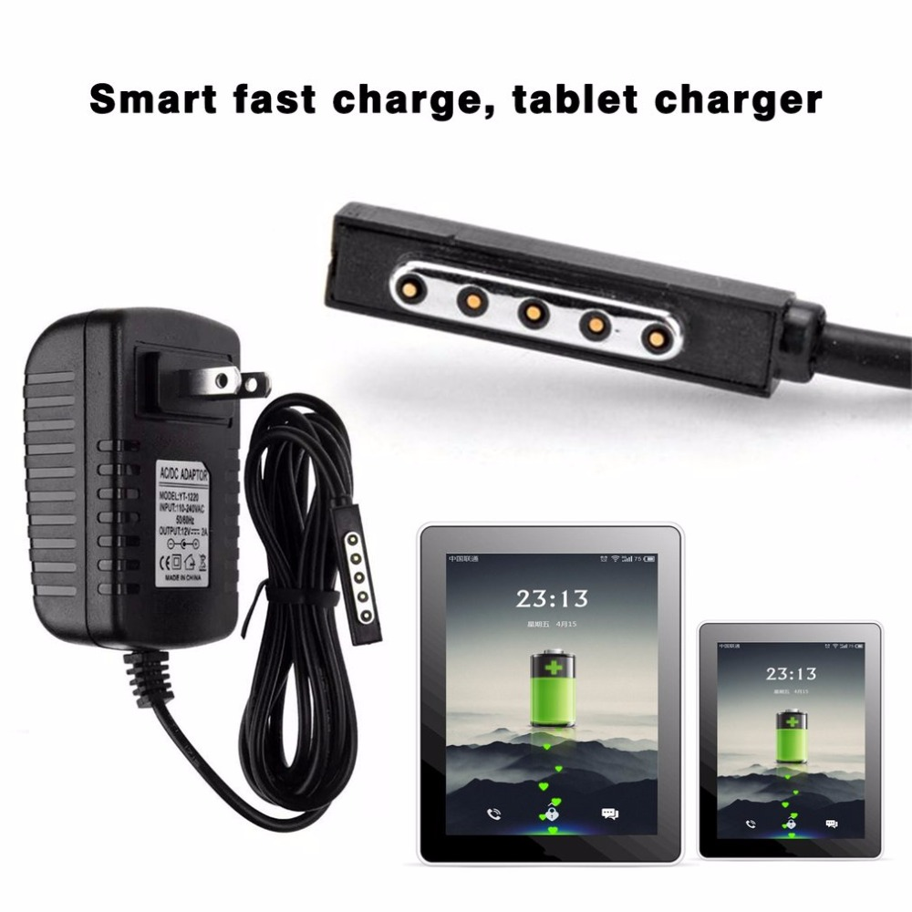 Power Charger Adapter 12V 2A For Microsoft Surface 10.6 Windows RT Tablet Battery Wall Tablet Charger With LED Indicator US Plug