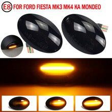 2 pces sequencial piscando led sinal de volta lado marcador de luz para ford fiesta iv mk4 (typ: ja, jb) mod. bj 11/1995 11/2001