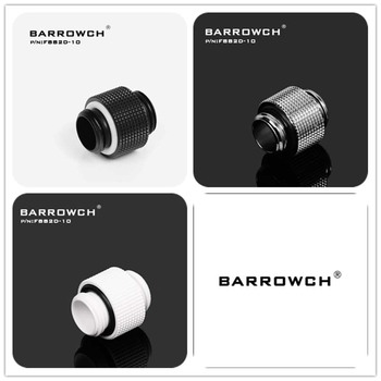 Barrowch PC water cooling fittings male to Male G1/4 Extender for Sliding tubing water cooler heatsink FBB2D-10 FBB2D-05 image