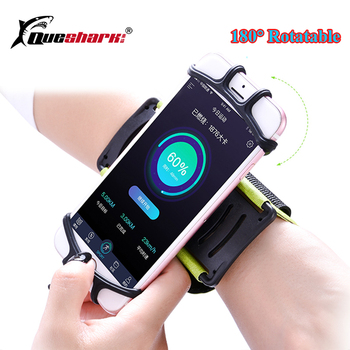 180 degree Rotatable Running Phone Bag Wrist Belt Wrist Strap Fitness Phone Wristband Jogging Cycling Gym Wrist Pouch Universal