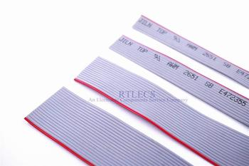 2 Meters Pin 1.27mm PITCH Grey Flat Ribbon Cable 28AWG WIRE for D-Sub IDC 2.54MM Socket Plug