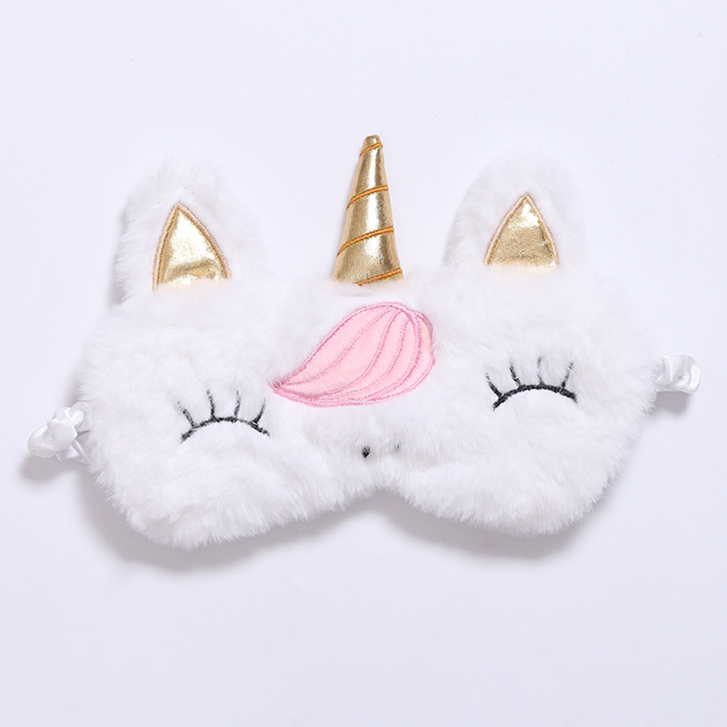 Many Kinds Of New Unicorn Eye Mask Cartoon Sleeping Mask Plush Eye Shade Cover Eyeshade Suitable For Travel Home Party Gifts
