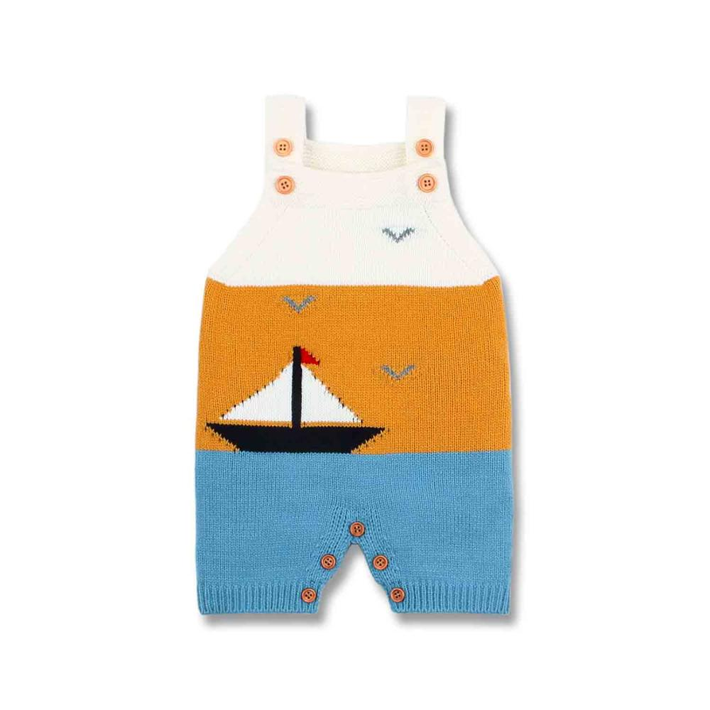 Newborn Baby Boys Rompers Sleeveless Infantil Bebes One Piece Jumpsuits Soft Knitted Toddler Girls Playsuits 0 24M Kids Clothing in Rompers from Mother Kids