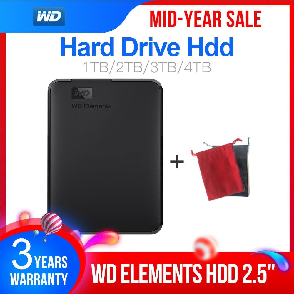 Western Digital WD Elements 2 5inch Portable 1TB 2TB 3TB 4TB USB3 0 External Hard Drive Hdd Disco Duro Externo Disque Portable