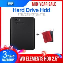 Western Digital WD elementos 2,5 portátil de 1TB 2TB 3TB 4TB USB3.0 Disco Duro Externo Hdd Disco Duro Externo Disco portátil