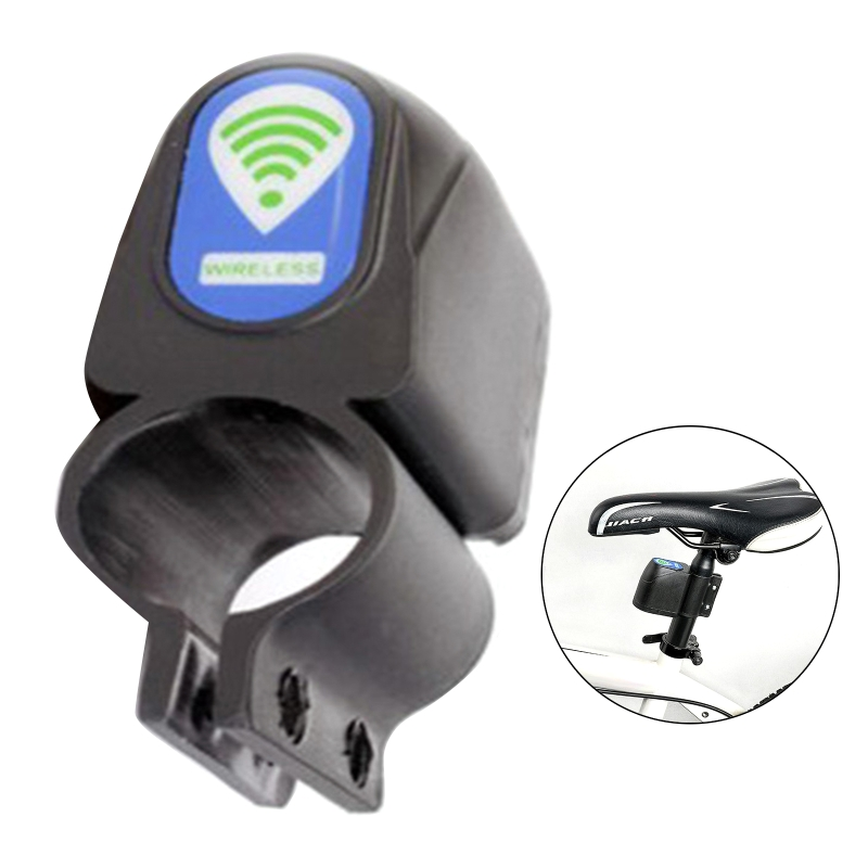 Wireless Remote Control Bicycle Alarm Mountain Bike Shock Vibration Sensor Lock G32B