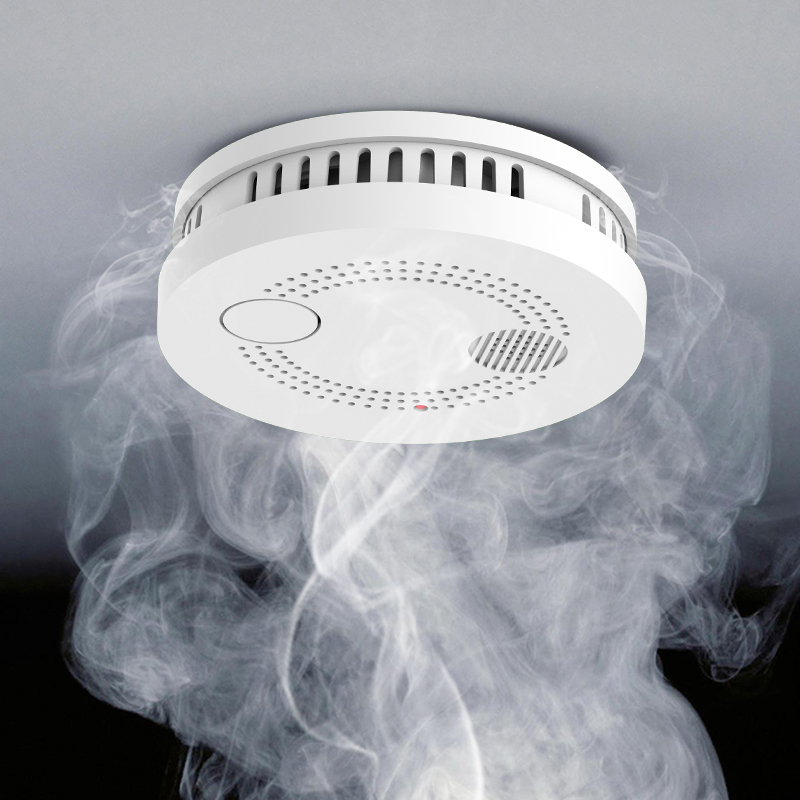 Wifi Smoke Detector/Sensor And App Notification Alerts,No Hub Required,Plug And Play  Battery-Powered Stand By Up To 2 Years