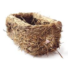 Natural Grass Nest Woven Tunnel House for Rabbit Hamster Guinea Pig