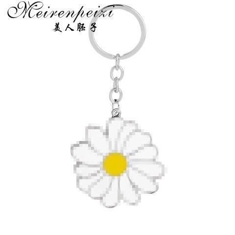 Kawaii Весенняя Маргаритка Брелок «цветок» цветочный кошелек