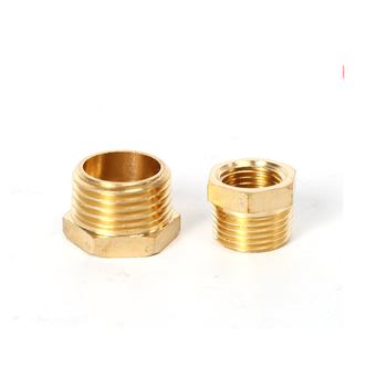 Brass Hose Fitting Hex Reducer Bushing M/F 1/8 1/4 3/8 1/2 3/4 BSP Male to Female change Coupler Connector Adapter plastic hose pipe fittings f m 1 2 3 4 pt male to female thread hex bushing pipe fittings adapter