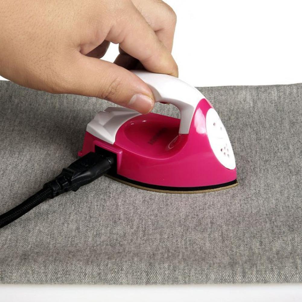 Mini ferro elétrico portátil viagem artesanato roupas almofada de costura proteção elétrica capa do agregado familiar suprimentos ferro l4g6