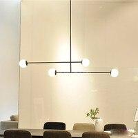Kreative Geometrische Design Schlafzimmer Led Kronleuchter Postmodernen Kunst Linie Esszimmer Cafe Küche Decro Leuchten-in Pendelleuchten aus Licht & Beleuchtung bei