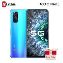 Más IQOO Neo 3 teléfono móvil 5G completo Netcom 4500mAh 44W carga de Flash 4800MP Triple cámara trasera 8G 128G NFC Celular teléfono móvil