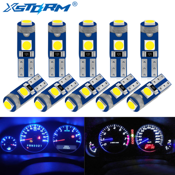 10Pcs T5 Led Bulb W3W W1.2W Led Canbus Car Interior Lights Dashboard Warming Indicator Wedge Auto Instrument Lamp 12V