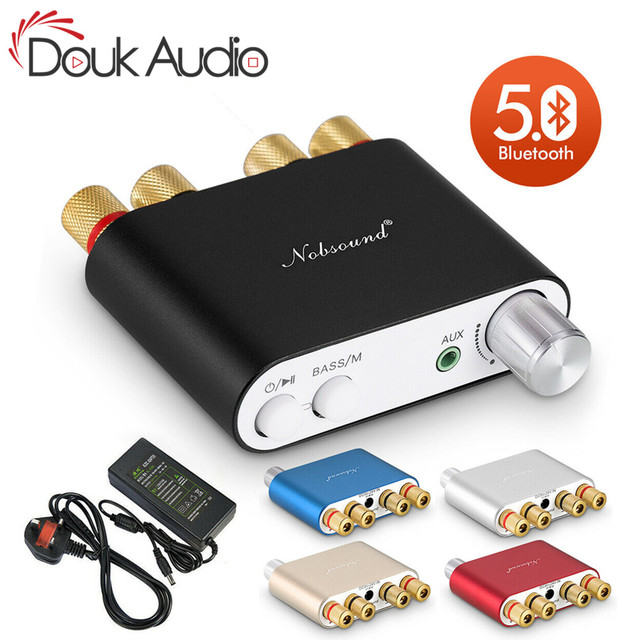 Nobsound HiFi 100W Mini TPA3116 Bluetooth Digital Amplifier Amp Stereo Amplifier HiFi Audio Receiver USB DAC With Power Supply