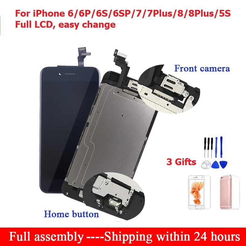 For iPhone 6 6S 7 8 Plus LCD Full Assembly Touch For iPhone 7 lcd Screen Replacement Display For iphone 6 6S 5S Screen Digitizer(China)
