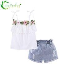 Комплект одежды littlespring для маленьких девочек жилет на