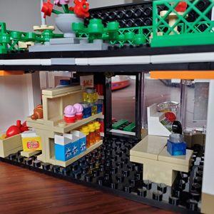 Image 4 - SEMBO Blocks Street Mini Shop CAKE STORE Building Bricks for Children Toy Super Market Kids Doll brinquedos Girls Boy Gifts
