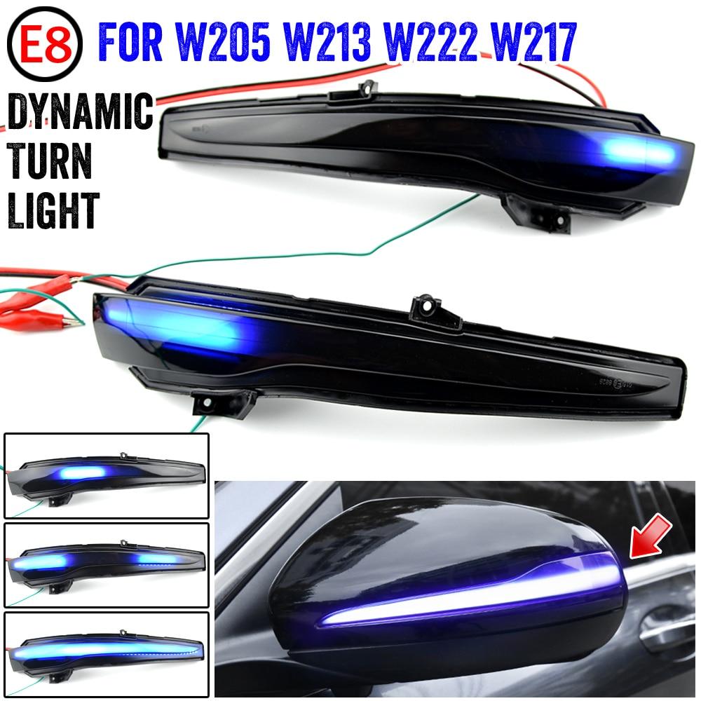 Светодиодный ретранслятор, зеркальный мигающий светильник, боковой динамический поворотный сигнал, указатель поворота для Benz W205 W213 для ...