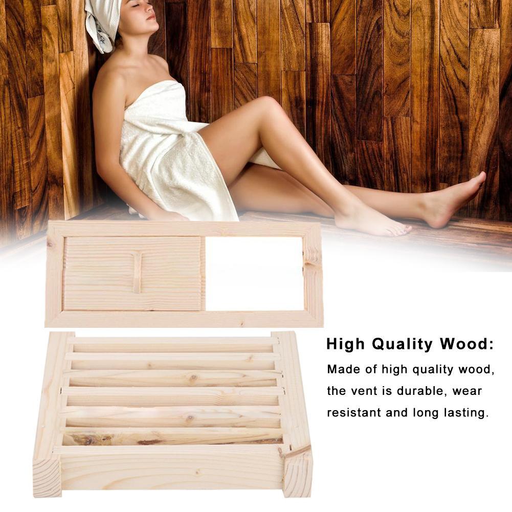 High Quality Wood Bath Sauna Air Vent Grille Ventilation Panel Sauna Room Equipment Accessories Non-Slip Bathtub Shutter Window
