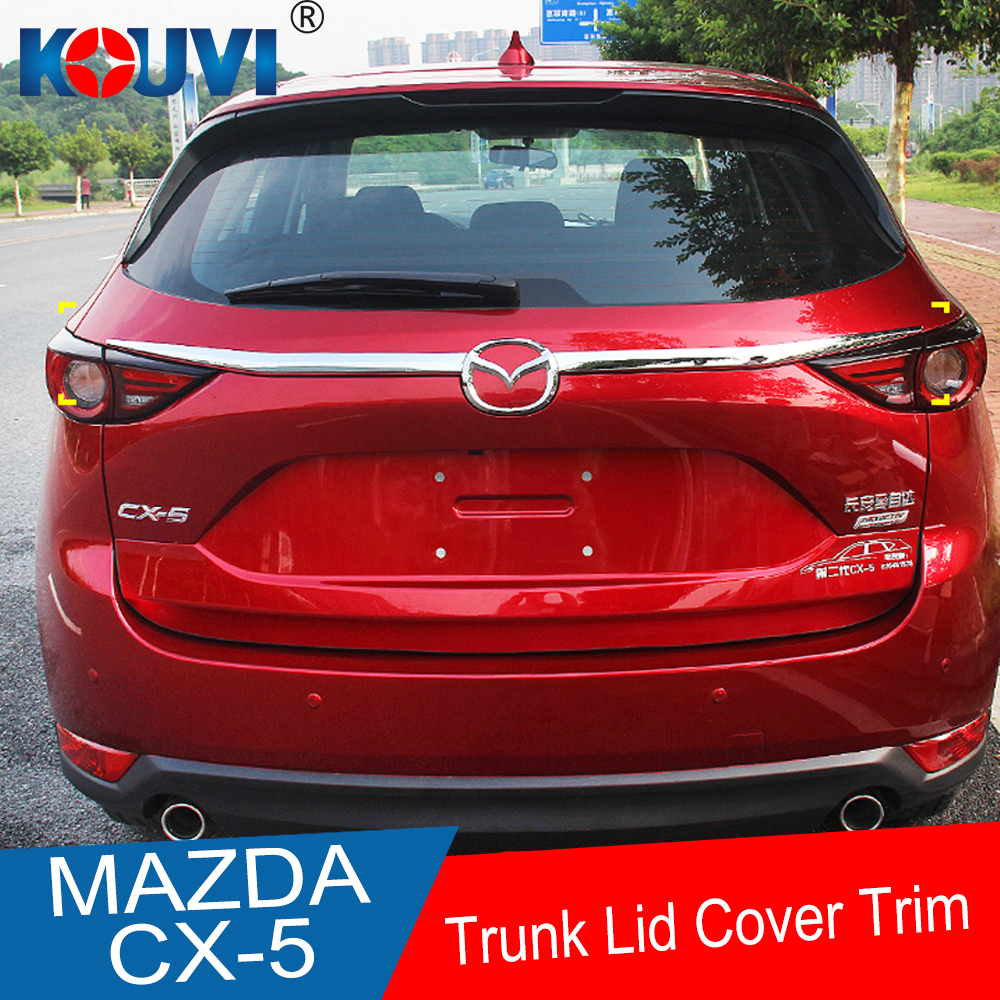 ABS Chrome Accessories Trunk Lid Tailgate Cover Trim For <font><b>Mazda</b></font> <font><b>CX5</b></font> CX-5 KF SERIES 2017 <font><b>2018</b></font> 19 Car Sticker image
