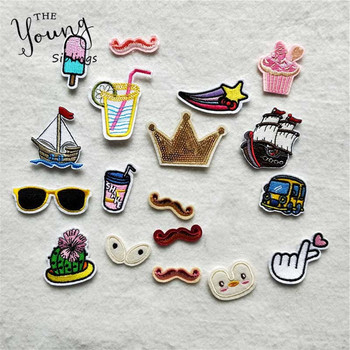 20 kinds for choose Mixture Hot melt adhesive Iron On Patches Cute Cartoon Car Eyes badge Clothes DIY Motif Applique Sticker image