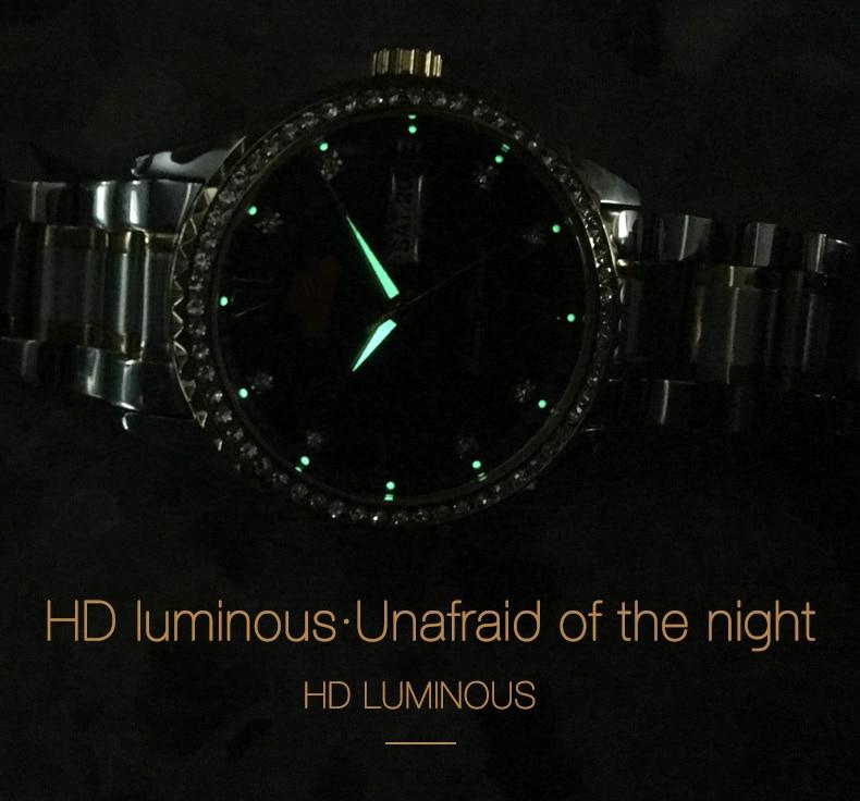 de pulso de quartzo luminoso para relógio