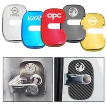 Estilo do carro tampas de bloqueio de porta automática caso para opel opc vauxhall vxr insignia astra acessórios do carro-estilo adesivos