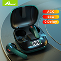 Настоящие беспроводные Bluetooth-наушники с микрофоном, игровые наушники с низкой задержкой, наушники-вкладыши, Tws, сенсорные наушники для Android, ...