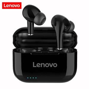 New Original Lenovo LP1S True Wireless Bluetooth 5.0 Earphones Hifi Stereo bass With Mic Handsfree LP1 S Earbuds IPX4 Waterproof