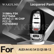 לכה Panit גרסה חכם רכב מפתח פוב לאאודי A4 A5 S4 S5 Q5 2008 2009 2010 2011 2012 FCC מזהה: IYZFBSB802 8K0959754F