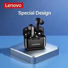 Lenovo qt82 sem fio bluetooth 5.0 fones de ouvido controle toque alta fidelidade estéreo 9d som esporte fone com microfone ipx5 à prova dwaterproof água