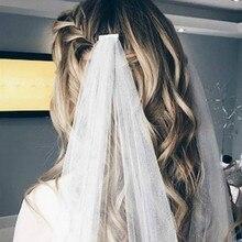 Boho Wedding Bridal Veildraped bohemian veils fingertip chapel boho bridal veil velos de novia 2019