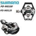 Shimano Deore XT PD-M8100 PD-M8120 Ras SPD Pedaal MTB Mountainbike Pedalen Met SM-SH51 Schoenplaten