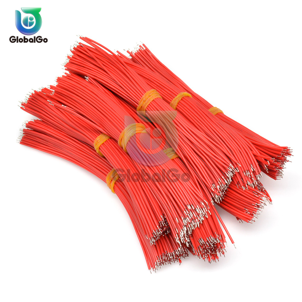 100pcs/Lot 15cm UL1007 24AWG Tin-Plated Breadboard PCB Solder Cable 24AWG Jumper Wire Cable Tin Conductor Wires Connector Wire