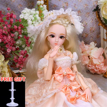 26 Movable Joints BJD Doll 1/4 With Full Outfits Wigs Shoes Makeup Ball Jointed Dolls Collection Toys Christmas Gifts