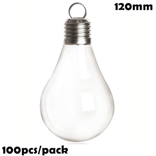 Ampoule en plastique 120mm 100mm   Bricolage, incassable, ornement de boule de décoration de noël, paquet de, livraison gratuite