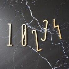 """Высота 7 см 2,7"""" золотые латунные буквы и цифры Настенный декор вилла отель дверные тарелки цифры общежития домашний офис номер DIY"""