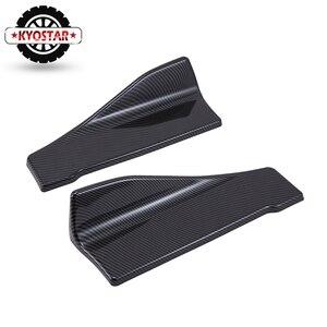 Image 5 - Universal Carbon Fiber Car Rear Lip Angle Splitter Diffuser Bumper Spoiler Winglet Wings Anti crash modified Car Body Side Skirt